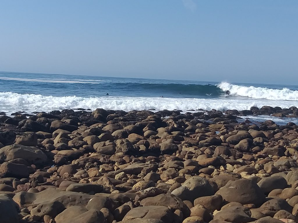 The wave at Inner Pool Mossel Bay is fun and easily accessible.