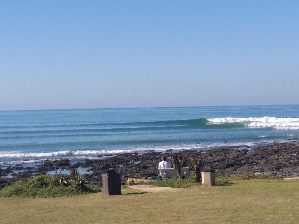 Glassy waves at The Point Jeffreys Bay